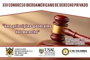 XIII Congreso Iberoamericano de Derecho Privado
